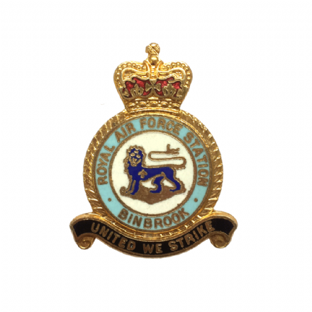 Royal Air Force RAF Station Binbrook Lapel Badge